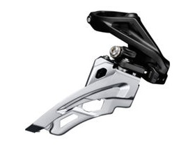 Shimano Deore Deore M612-H triple front derailleur, high clamp, side swing, front pull