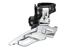 Shimano Deore XT FD-M781-A XT triple front derailleur, top pull, conventional swing, silver